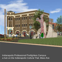 Indianapolis Professional Firefighters Local 416 is transforming it Mass Ave Cultural District location