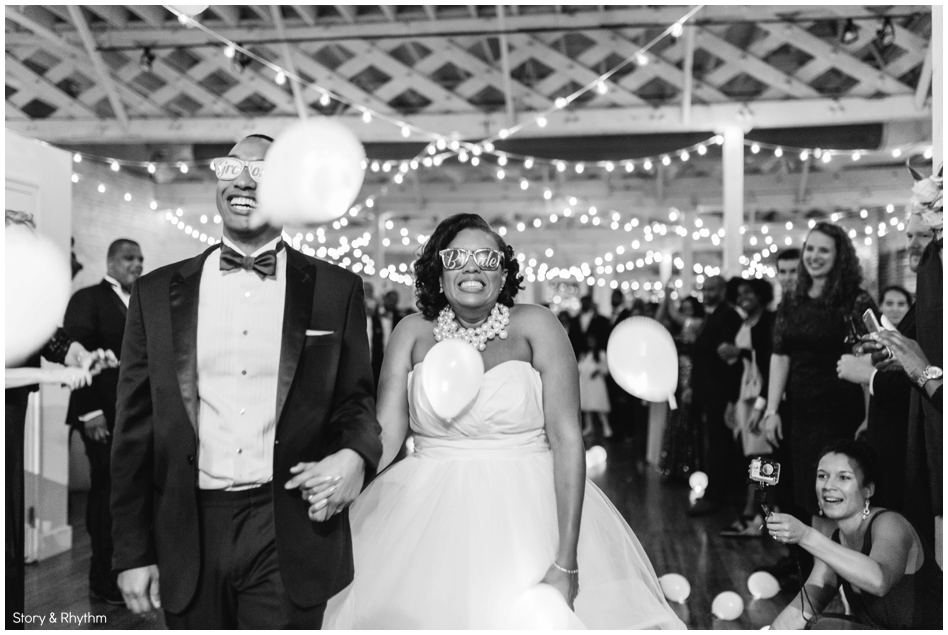 LED Balloon exit from wedding