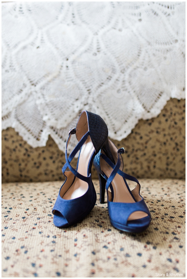 Navy blue shoes for wedding