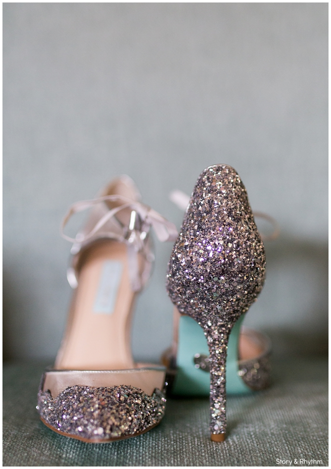 Glitter Blue by Betsey Johnson shoes for wedding