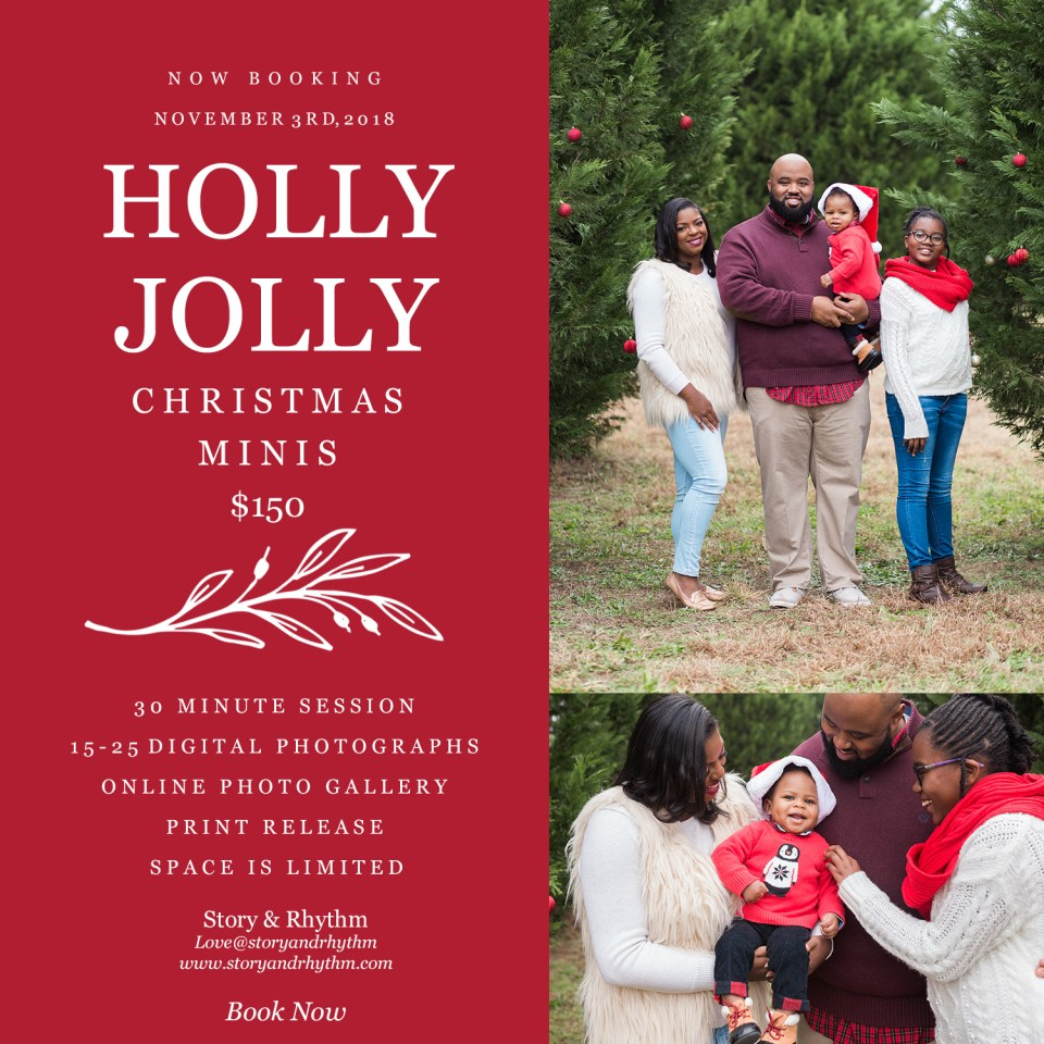 Holiday mini photo sessions in Raleigh NC