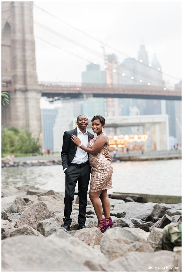 engagement photos dumbo