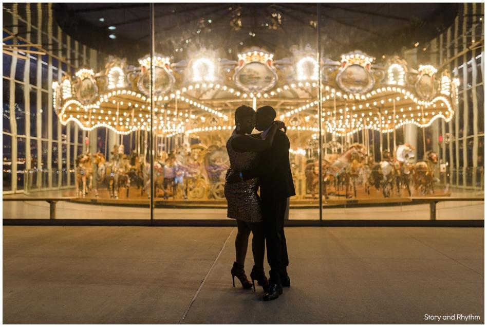 jane's carousel engagement photos