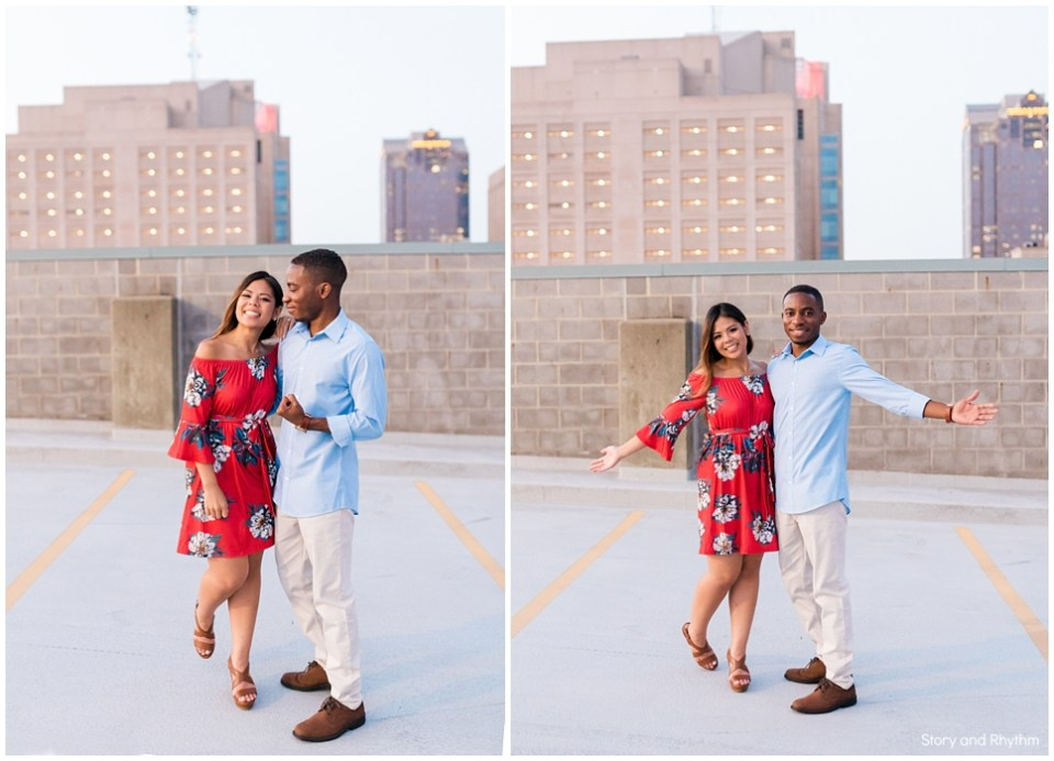 Fun engagement photos in Raleigh NC