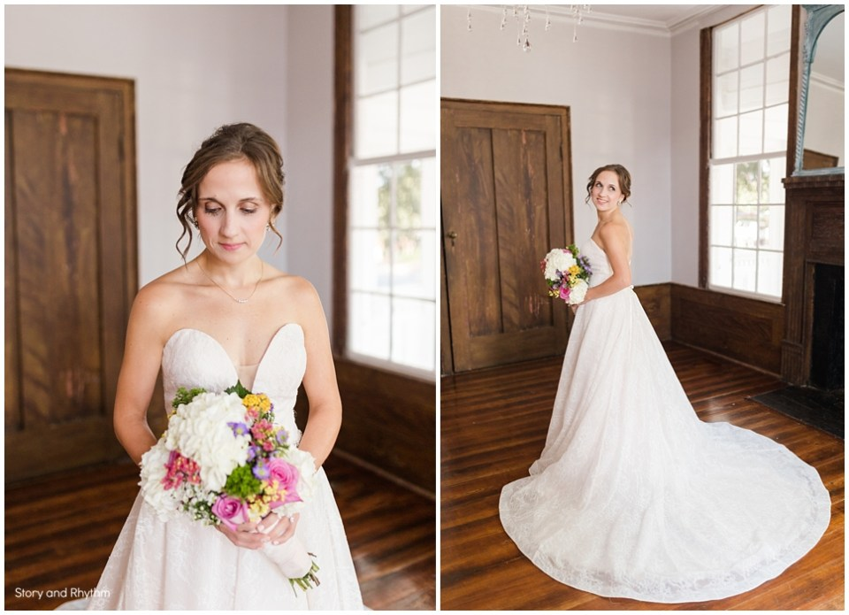 Leslie-Alford-Mims House wedding in Holly Springs, NC