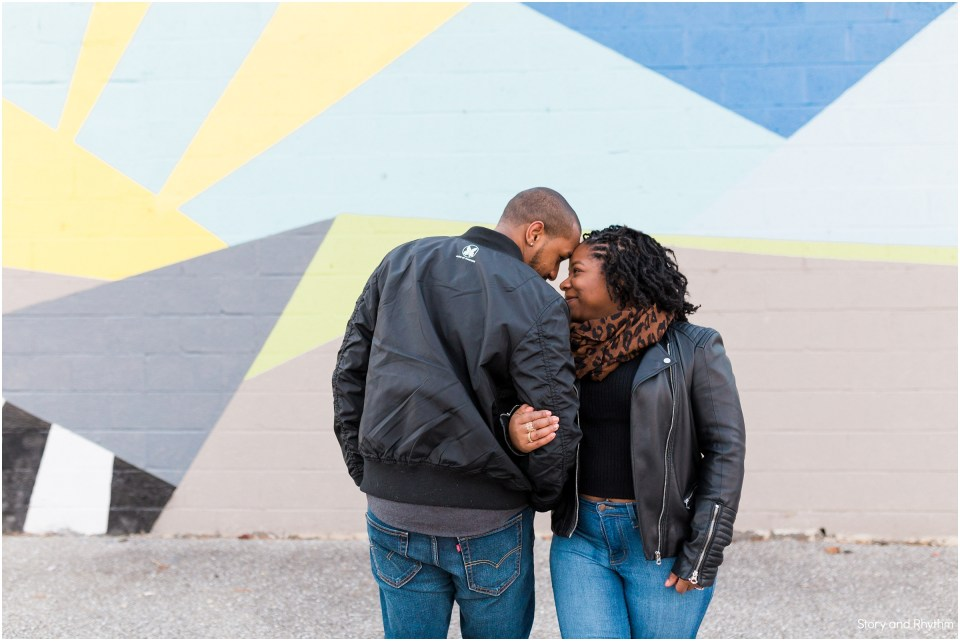 Outdoor engagement photos in Baltimore MD