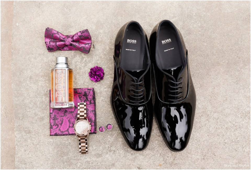 Groomsmen details at wedding