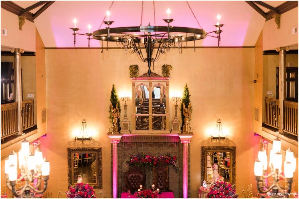 Pink uplighting at Barclay Villa