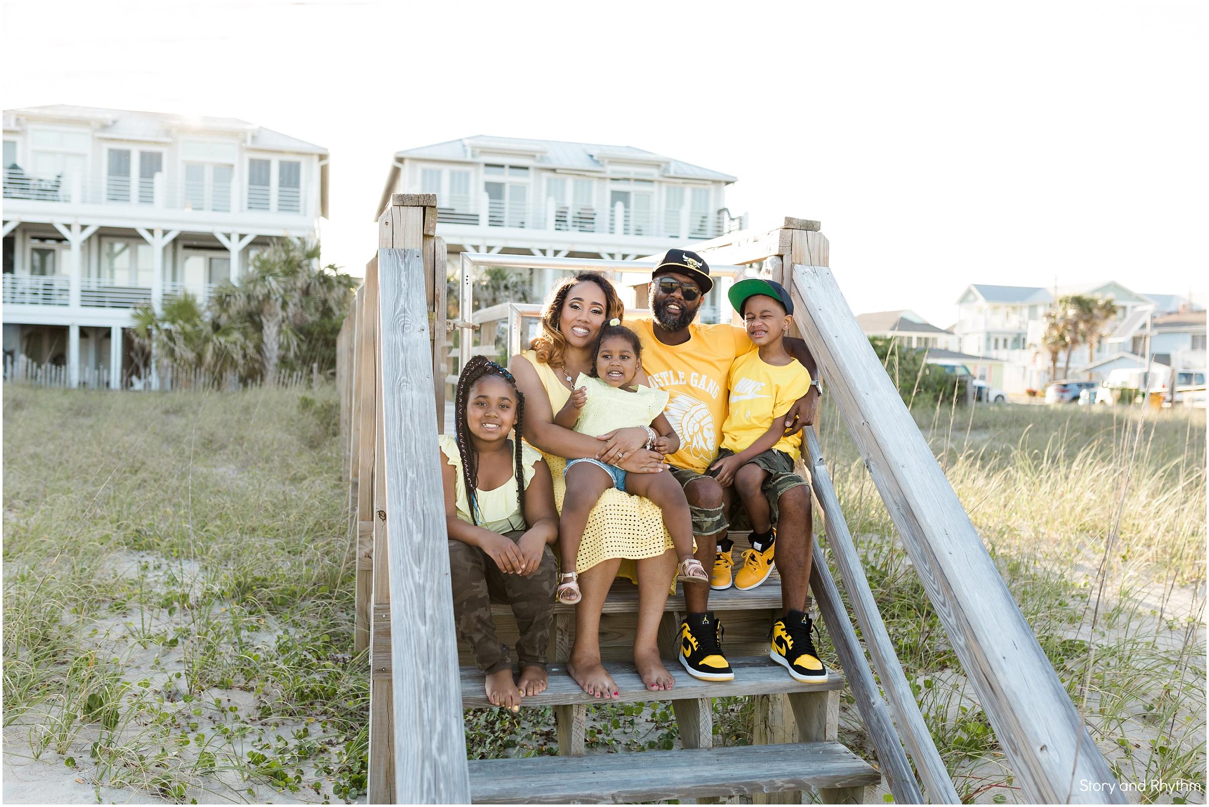 Family Portraits at Kure Beach | Raleigh Photographer