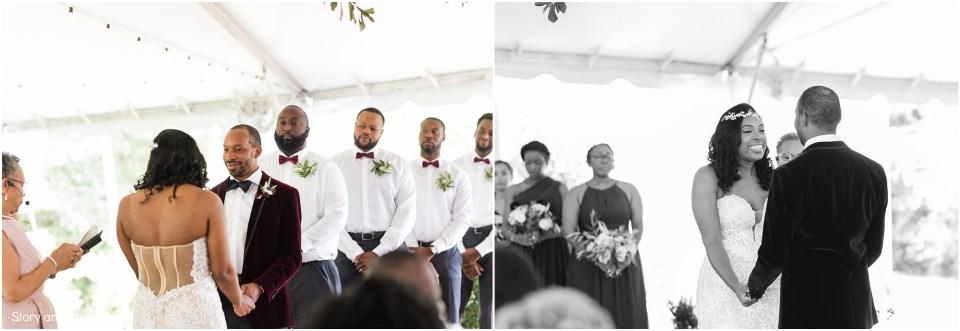 Wedding ceremony at The Bradford NC