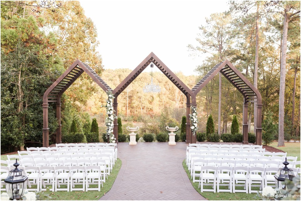 Outdoor ceremony at Highgrove Estate