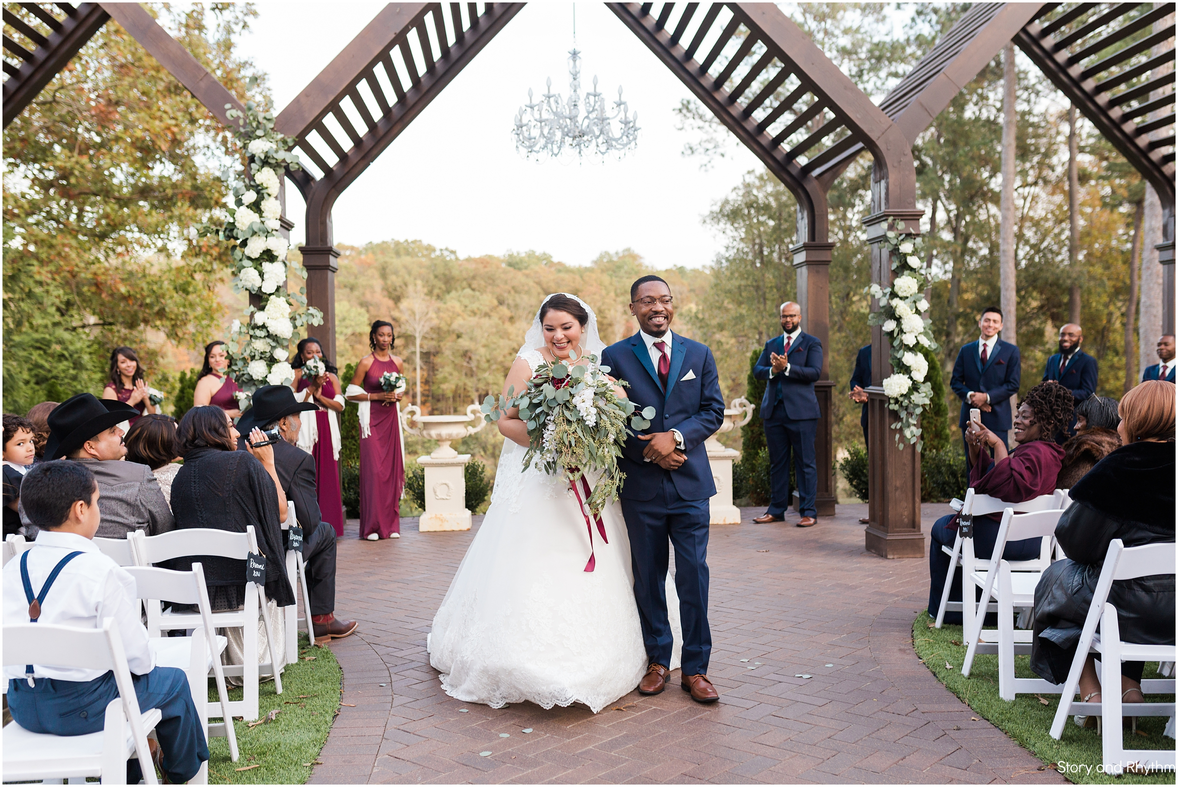 Fall wedding at the Highgrove Estate