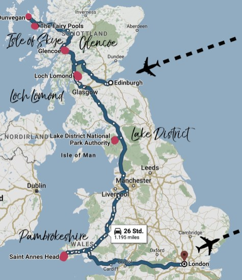 map of my travelling as a writer