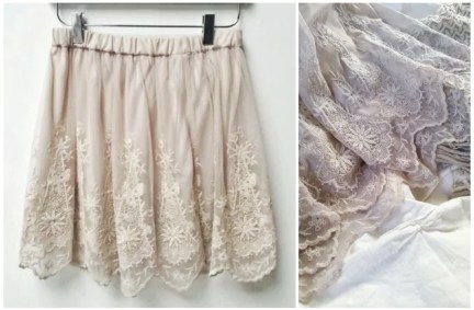 Floral Scallopped Lace Skirt