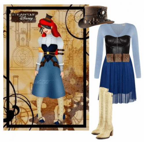 Ariel Steampunk Cosplay on Polyvore by MissSally