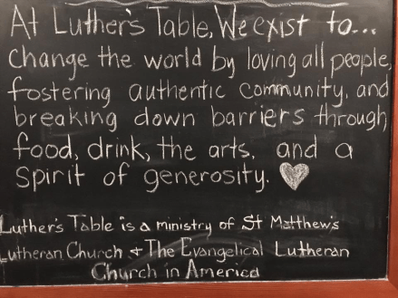 Luther's Table Why