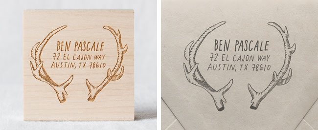 Diy Rubber Stamp Western Save The Dates And Wedding Invitations