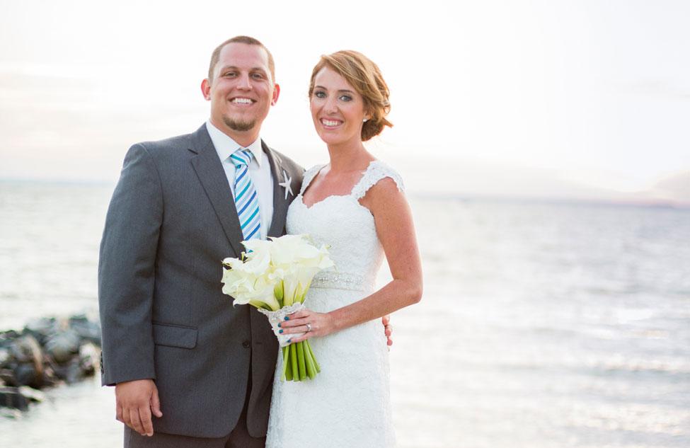 Classic Beach Chic Wedding Mixed Ocean Hues Chesapeake Bay ...