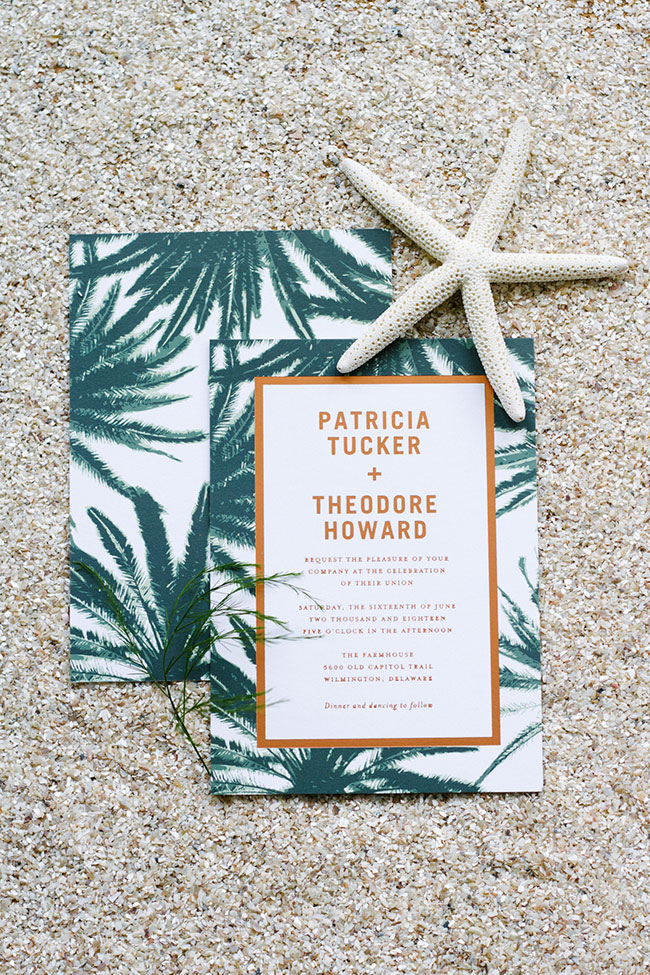 Coastal Inspired Palm Wedding Invitation Suite By Paper Divas Learn More About Invites