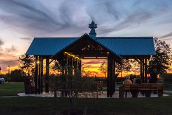 Storybook Barn Pavilion at Sunset - Glendale High School Class of '67 50th Reunion. Image credit: Gary Allman
