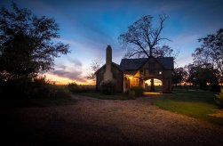 Writer's Cottage at Sunset. Image credit: Gary Allman