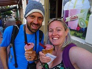 Wine ice cream