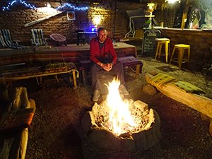Things to do in San Pedro: chill by the campfire