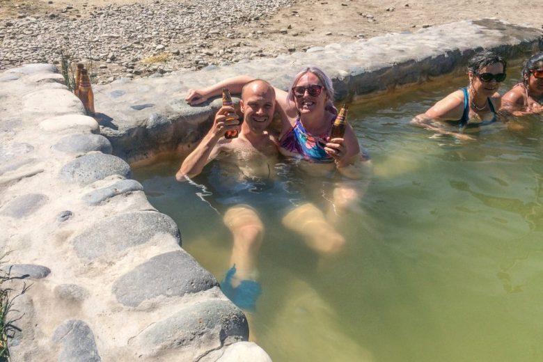 Relaxing at Chivay hot springs after completing the Colca Canyon trek