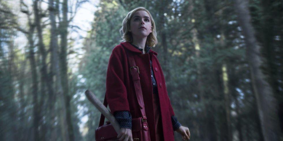 Sabrina CAOS Woods Red Coat
