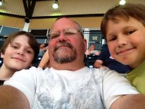 at baseball game
