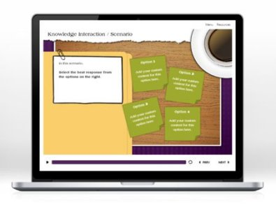 storyline e-learning interactive scenario template
