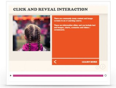 e-learning template interaction