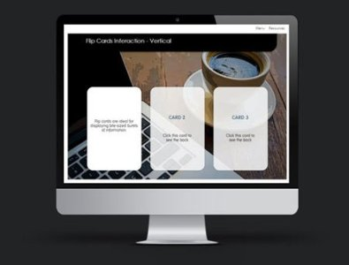 flip cards interaction template storyline