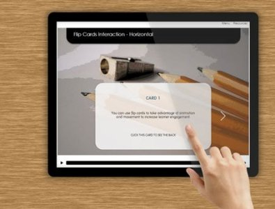 storyline templates e-Learning flip cards interaction