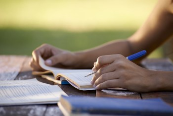 http://www.dreamstime.com/stock-photos-young-people-education-woman-studying-university-test-image28665373