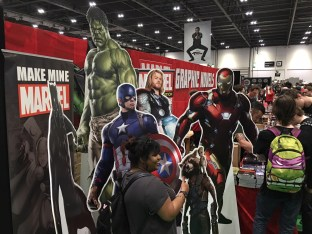 Marvel stand is heaving.