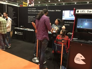 University of East London promotes its graphic and animation courses.