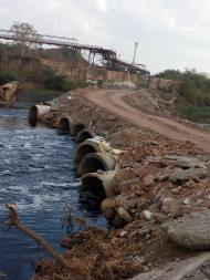 Buckingham Canal blocked by TANGEDCO's Ennore Thermal Power Station