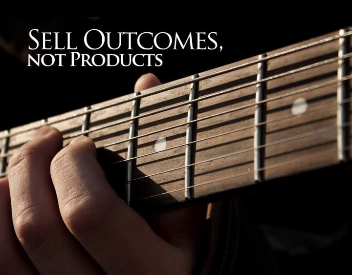sell outcomes not products header