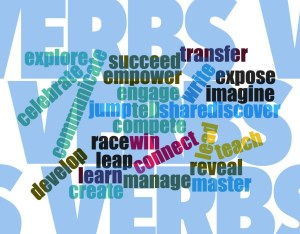 verbs word cloud