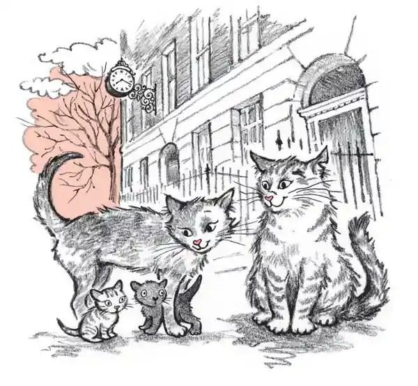 The Book Cat - Mum and sister - Story Snug
