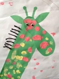 Footprint Giraffe Story Snug http://storysnug.com