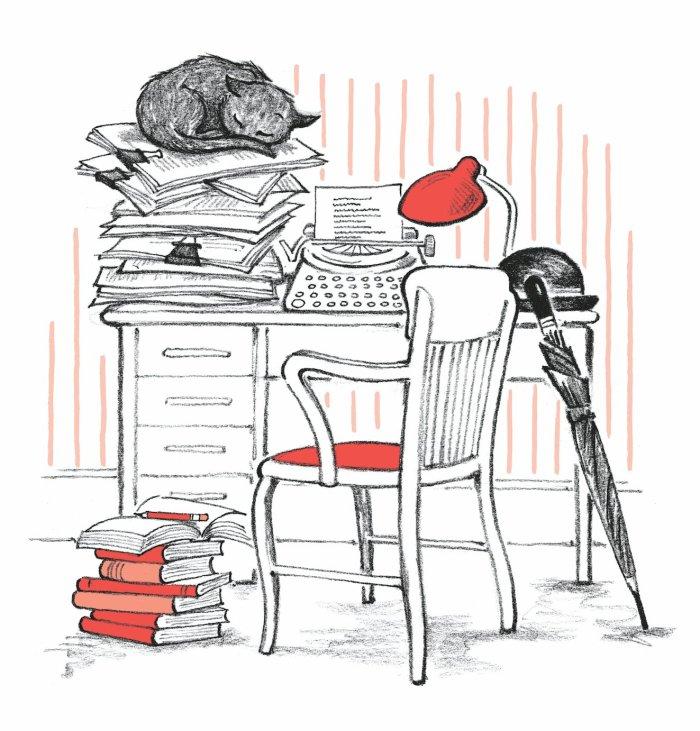 The Book Cat - Morgan working - Story Snug