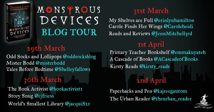 Monstrous Devices Blog Tour banner - Story Snug