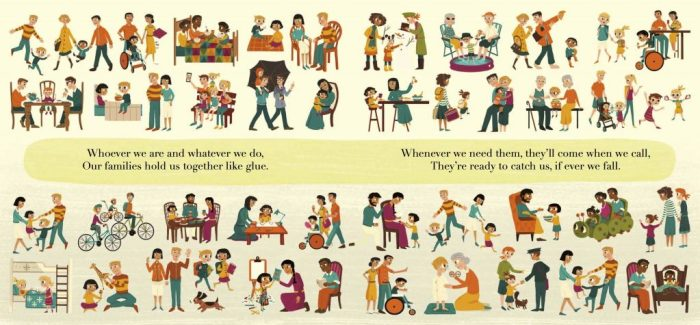 We are Family endpapers
