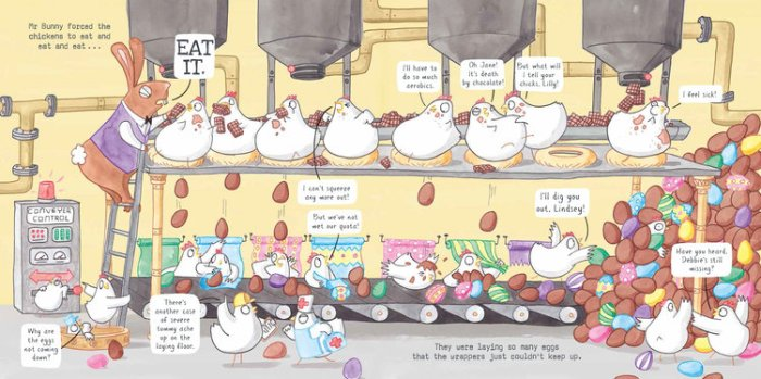 Mr Bunny's Chocolate Factory production line - Story Snug
