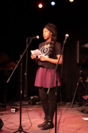 Elysse performs Little Brown Girl at 2nd Annual Benefit Concert.3.19.2016.Photo by Qingru Chen. c Story Stitchers 2016