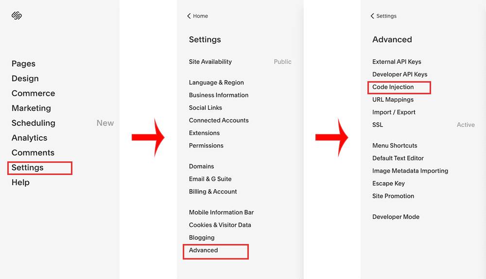 How To Set Up Google Tag Manager (GTM) On A Squarespace - Menus