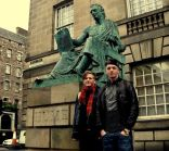 With one of my bros in Edinburgh, Scotland.