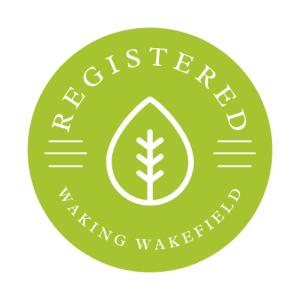 A digital badge reward for registering on the website